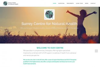 Surrey Centre for Natural Health<br><small>(Designed by Novo Graphic, Dorking)</small>