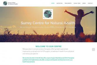 Surrey Centre for Natural Health<br><small>(Designed by Novo Graphic, Dorking)</small>